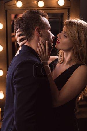 Woman seducing a married man