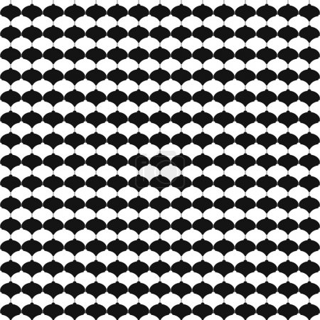Monochrome seamless pattern with Christmas balls.