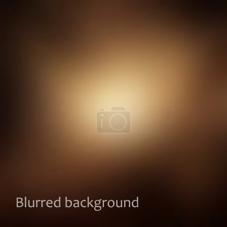 Illustration for Vector blurred background in brown and gold, web and mobile interface template. Design element. - Royalty Free Image