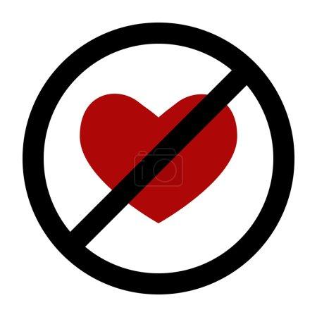 Funny interior sign No love