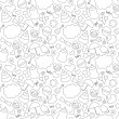 Cute hand drawn baby seamless pattern. Background ...