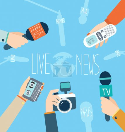 Journalism concept vector illustration in flat sty...