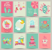 Collection of 12 Spring card templates