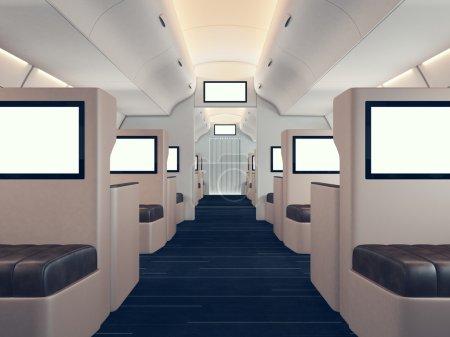 Photo of luxury airplane interior
