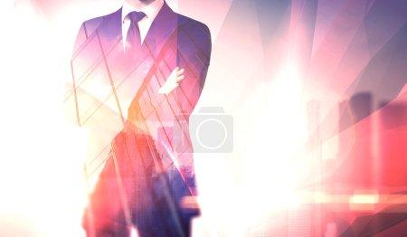 Concept businessman wearing modern suit