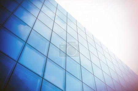 Blue Skyscraper facade