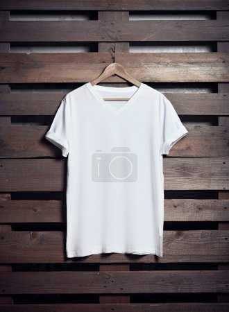 White t-shirt hanging