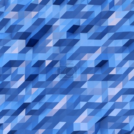 Photo for Photo of highly detailed multicolor polygon. Blue geometric rumpled triangular low poly style. Abstract gradient graphic background. Square. - Royalty Free Image