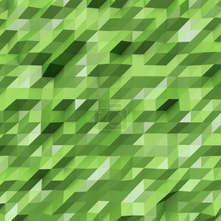 Foto de Photo of highly detailed multicolor polygon. Green geometric rumpled triangular low poly style. Abstract gradient graphic background. Square. - Imagen libre de derechos
