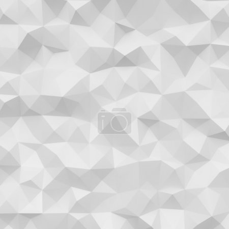 Foto de Photo of highly detailed polygon. White geometric rumpled triangular low poly style. Square. - Imagen libre de derechos