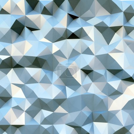 Photo for Photo of highly detailed multicolor polygon. Blue geometric rumpled triangular polygons style - Royalty Free Image
