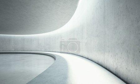 Clear concrete interior