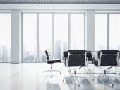 Kancelář interiér s velkými okny