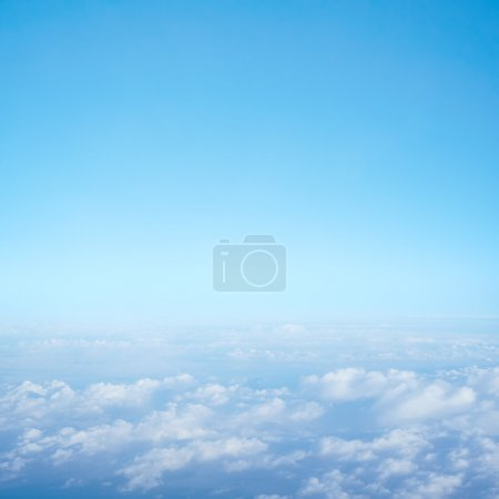 View of the clouds from an airplane