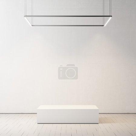 Presentation room with empty podium