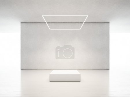 Photo for Presentation room interior with podium - Royalty Free Image