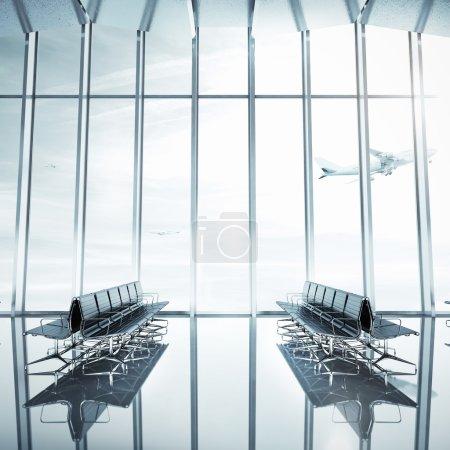 Empty airport interior