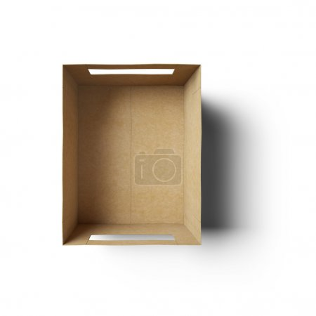 Photo for Empty rectangle shape box made of cardboard - Royalty Free Image