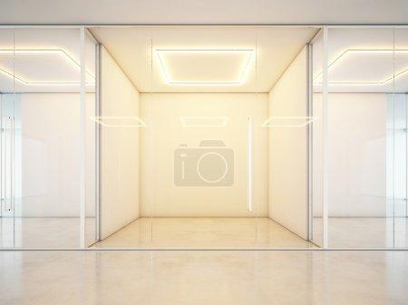 Blank white office interior