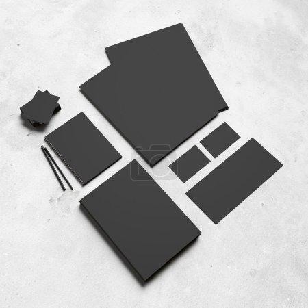 Black branding elements