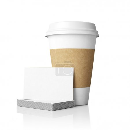 paper cup and cards