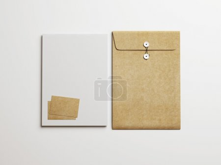Set of branding elements on paper background