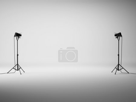 Photo for Studio of photo or video with lightning equipment - Royalty Free Image