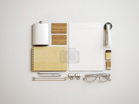 White branding elements Set