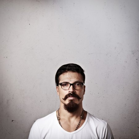 bearded man in eyeglasses