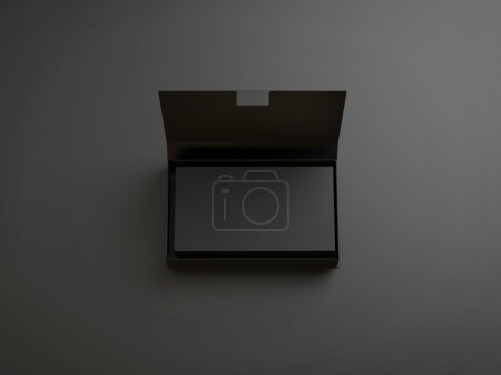Stack of business cards in the box