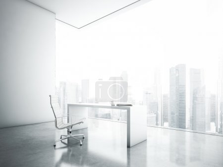 Office with panoramic window