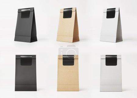 Set of paper bag templates