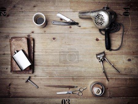 Vintage barber shop equipment