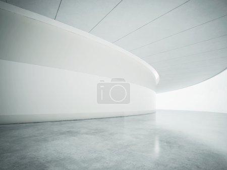 White open space contemporary interior