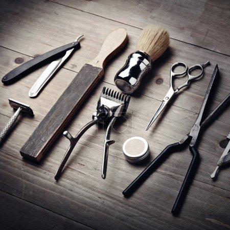 Vintage tools of a barber