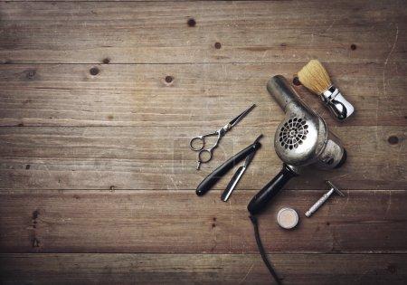 Vintage barber equipment