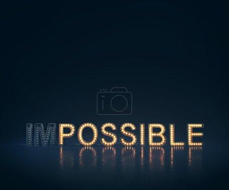Photo pour Concept avec lettres éclairées sur fond lumineux - image libre de droit