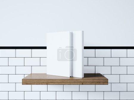 Photo pour Maquette du livre blanc sur fond blanc - image libre de droit