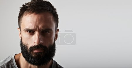 Photo for Close-up portrait of a handsome bearded man - Royalty Free Image