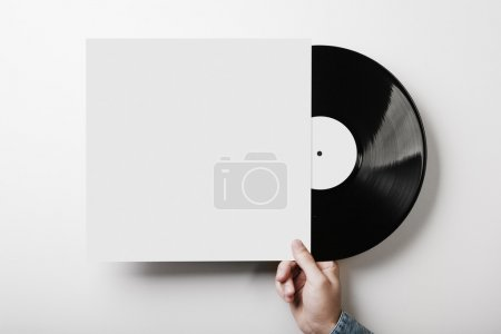 Template of vinyl cover on white