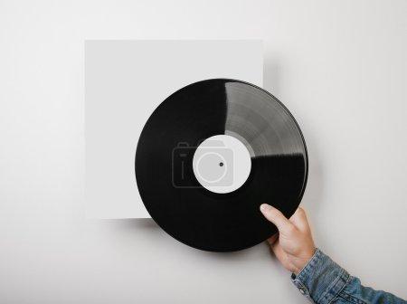 Template of vinyl cover on white