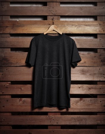 black tshirt hanging