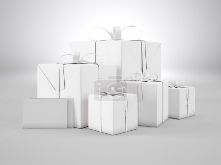 Set of blank gift boxes