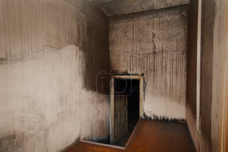 Scary room with white walls