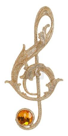 Goldener Notenschlüssel