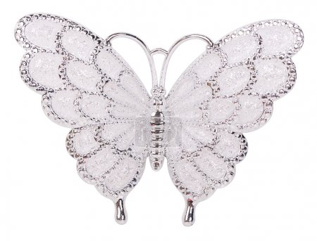White butterfly decoration