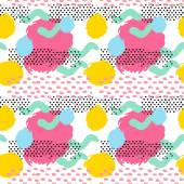 Pattern of retro vintage 80s or 90s style