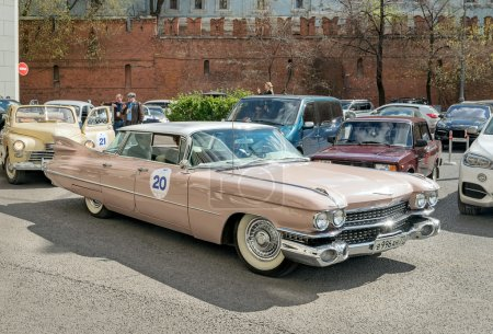 Retro rally in Moscow Cadillac