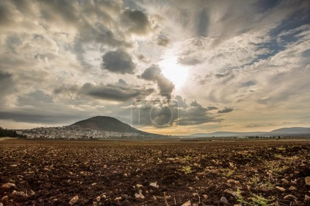 Panorama of Tabor Mountain and Jezreel Valley in G...