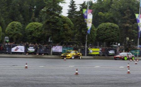 Car drifting. Kazakhstan. Almaty.